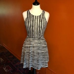 H&M Striped Fit & Flare Dress, Size Small *EUC*